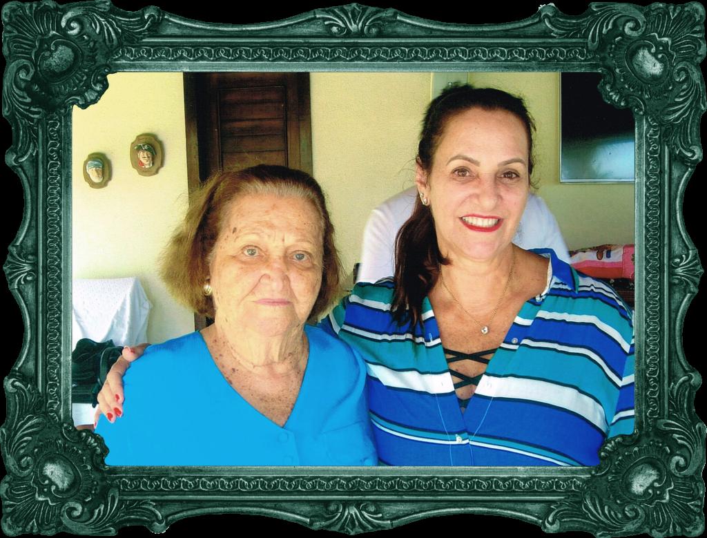 Nádya Cabral e sua jubilada mãe Neusa Bachá